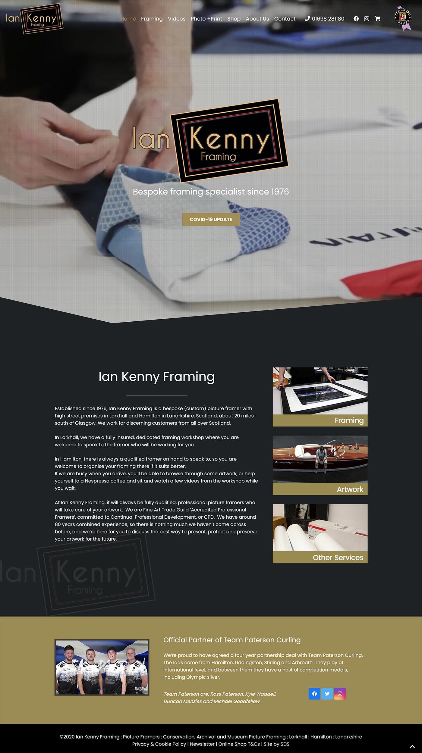 Ian Kenny Framing website