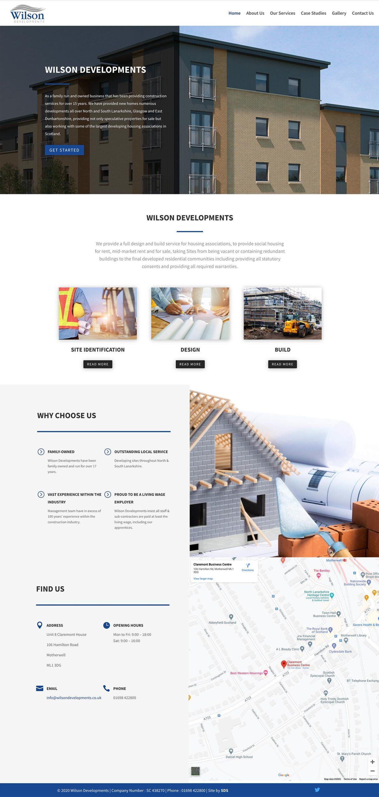 Wilson Developments Website