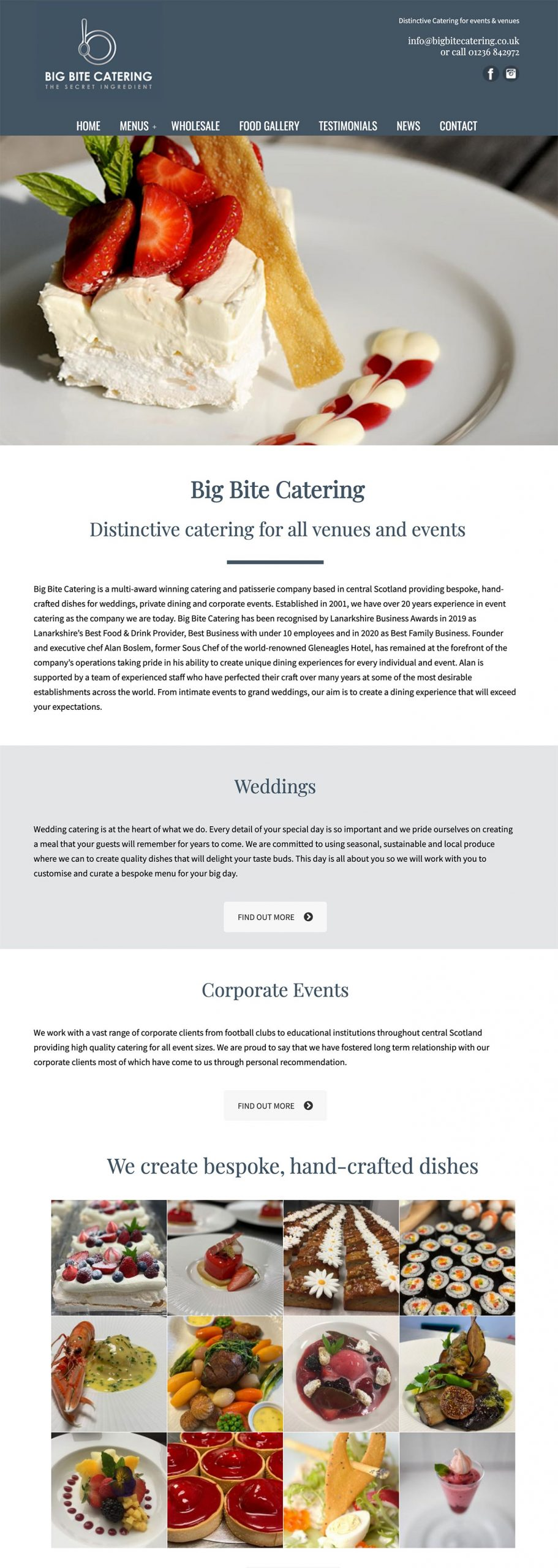 Big Bite Catering website